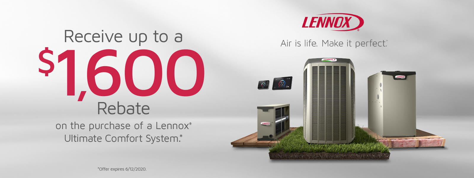 Lennox $1600 Rebate Offer