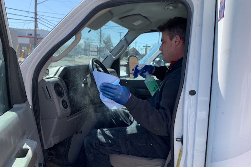 Ottawa Employee Cleaning Vehicle