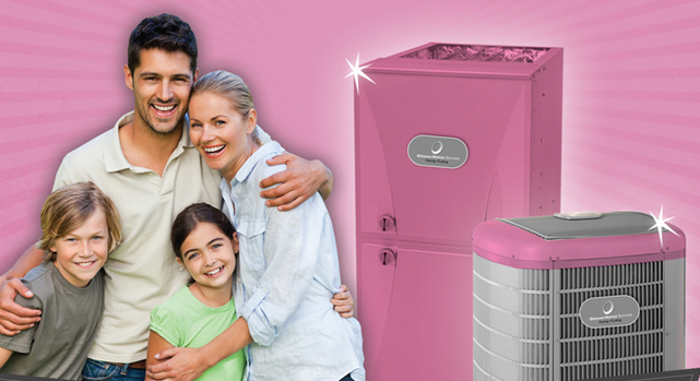 Pink Furnaces in Ottawa to Fight Cancer