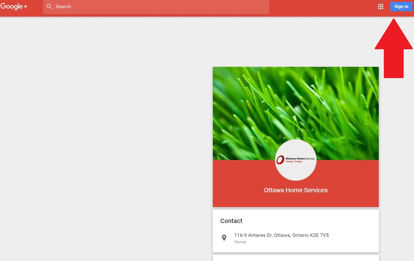 Google+ review instructions for Ottawa Home Services