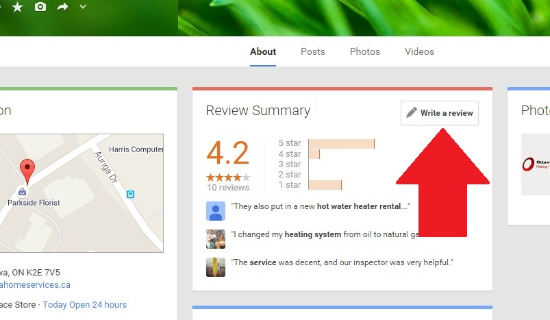 google+ review ottawa home services instructions