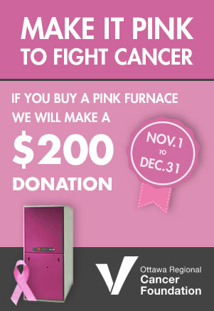 Pink Furnace for Cancer Campaign