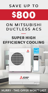 Mitsubishi Ductless Air Conditioner sale